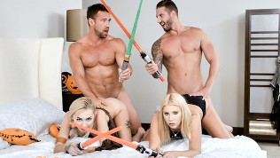 Daughterswap-Fucking Each Others Pussies With Light Sabers PornZek.Com